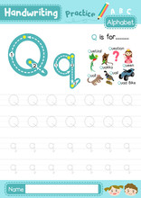 Letter Q Uppercase And Lowerca...