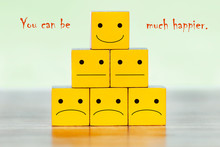A Pyramid Of Yellow Blocks. Th...