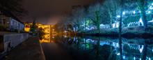 Knaresborough North Yorkshire Winter Night Scene With Christmas Lights
