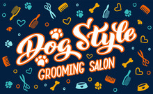 Dog Style Lettering For Groomi...