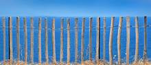 Panoramic View On Wooden Fence...