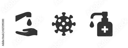 Photo Hygiene vector icon set
