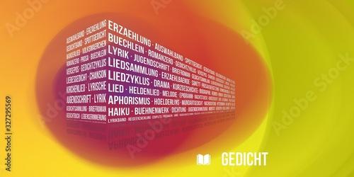 Gedicht Wallpaper Mural