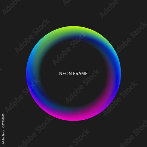 Canvas Print Neon vector circle