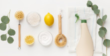 Cleaning Products Flat Lay, Ba...