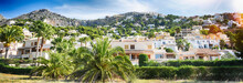Panoramic View Of The Coast Of Altea And Mountains On The Costa Blanca Of Spain