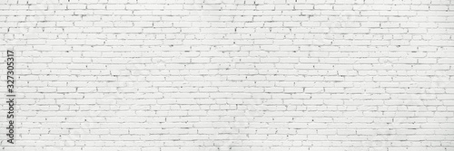 Obraz na plátne White Long Wide Wall Textured Background