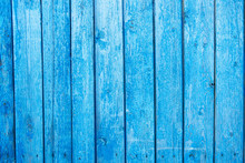 Old Painted Blue Wall Textured...