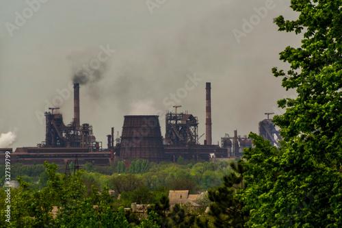 Fotografia, Obraz Metallurgical plant pollutes the environment