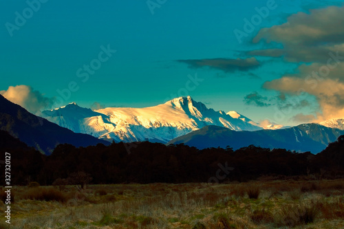 snow mountain in aspiring national park westcoast southland new zelaand Canvas Print