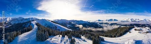 Foto Megeve (Megève) ski station in Haute Savoie in French Alps of France