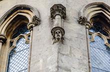 Gargoyle Man Stone Head On The...