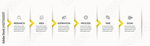 Foto Vector Infographic design with icons and 6 options or steps