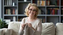 Smiling 60s Grandmother Enjoy ...