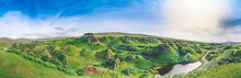 Panorama Of Cone Shaped Hills ...
