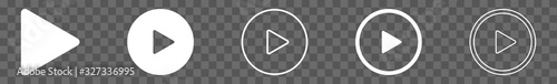 Fotografija Play Button Icon Circle | Start Buttons Illustration | Video Audio Player Naviga
