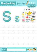 Letter S Uppercase And Lowerca...