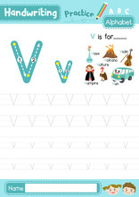 Letter V Uppercase And Lowerca...