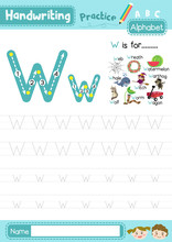 Letter W Uppercase And Lowerca...