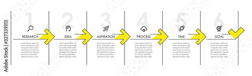 Photographie Vector Infographic design with icons and 6 options or steps