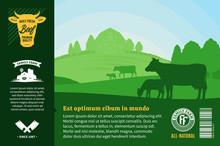 Vector Farm Fresh Beef Illustr...