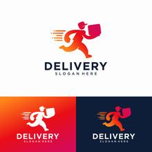 Delivery Logo Design Vector Te...