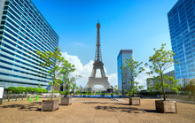 Eiffel Tower And La Defence