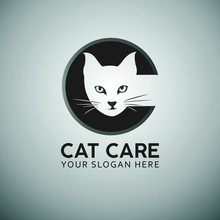 Cat Care Initial Letter Logo D...
