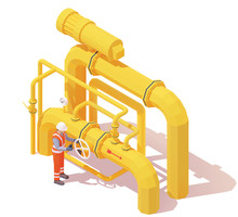 Vector Isometric Gas Or Oil Pr...