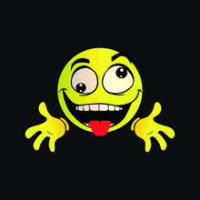 Emoji Crazy Funny Naughty Face...