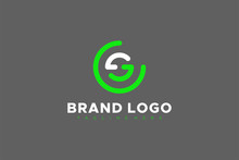 Circular Line Rounded Letter S...