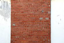 White Wood Red Brick Garden Sh...