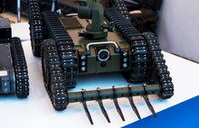 Combat Mine Clearance Robot Wi...