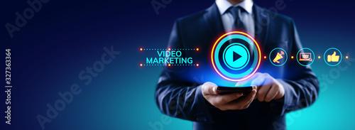 Obraz Video marketing online advertising business internet concept. - fototapety do salonu