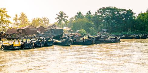 Village on the shore of Karnaphuli River