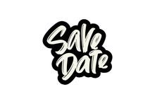 Save Date Hand Drawn Modern Br...