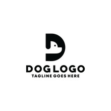 Dog Logo Design With Concept O...