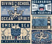 Nautical Vintage Colorful Hori...