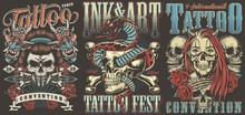 Tattoo Conventions Colorful Vi...