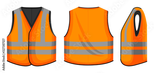 Cuadros en Lienzo Safety vest vector illustration on white background