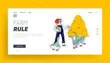 Woman Feeding Geese Website La...