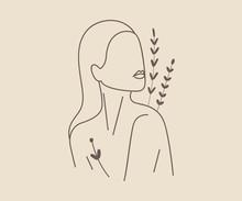 Linear Silhouette Portrait Of ...