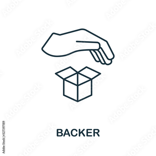 Photo Backer icon from crowdfunding collection