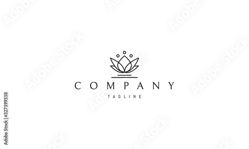 Photographie Vector logo on which the abstract lotus flower.