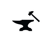 Blacksmith. Forge. Anvil And H...