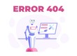 Webpage Maintenance. 404 Error Text Poster. Cartoon Robot Pointing to Flat Computer Monitor with Tools on Screen. Page Not Found, Site on Technical Work Announcement. Vector Illustration