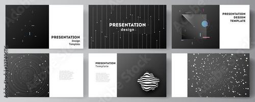 Valokuva Vector layout of the presentation slides design business templates, multipurpose template for presentation brochure, brochure cover