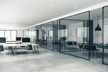 Concrete Coworking Glass Offic...