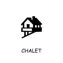 Chalet Flat Vector Icon