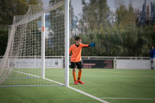 Goalkeeper Directing  His Defense, Spain